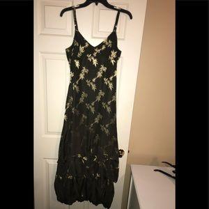 🆕EUC💜SUE WONG💜Silk Tiered Bottom Formal Dress